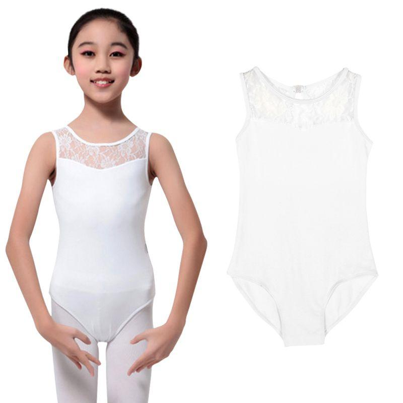 be6e8b5528 2019 Cotton Lycra Lace Black Tank Dance Leotard With Open Back Girls Ballet  Dancewear Ladies Costume Bodysuit Lady From Pileilang