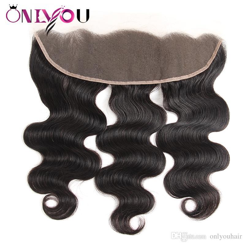 라이스 정면 브라질 깊은 파도 꼬챙이 곱슬 버진 인간의 머리카락을 가진 페루 바디 웨이브 묶음 정면 weaves 클로저가있는 3/4 번들