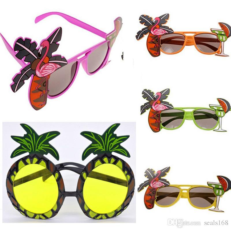 5efba199c87b7 Flamingo Party Sunglasses Hawaiian Pineapple COCKTAIL Hula Beach Beer  Sunglasses Goggles Hen Night Stage Fancy Dress Eyewear HH7-1336