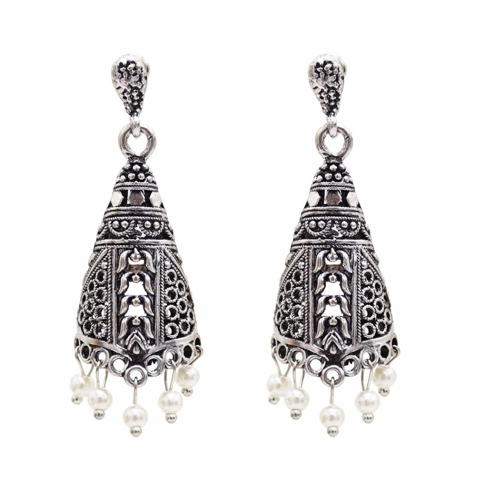 2019 Ethnic Indian Birdcage Earring Women Antique Gold Silver Pearl Egypt Drop  Earring Retro Vintage Boho Pendientes Mujer Moda 2018 From Milknew ef030cdafe10