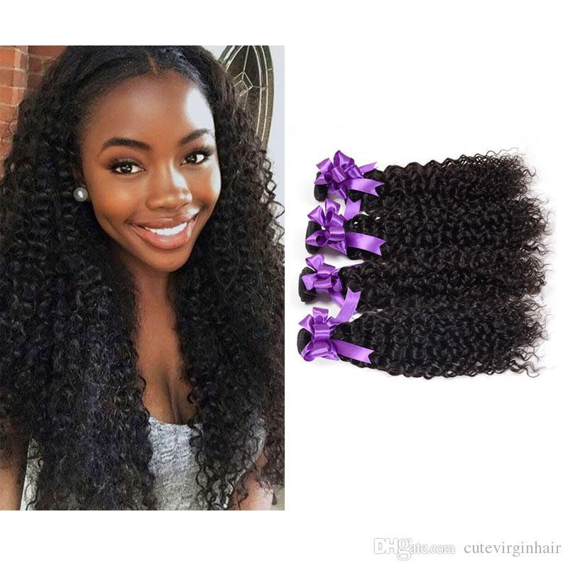Brazilian Peruvian Malaysian Human Hair Vendors Weave 4 Bundles 100%  Unprocessed Kinky Curly Virgin Hair Bundles Extensions Natural Color Cheap  Human Hair ... 0673a70bc