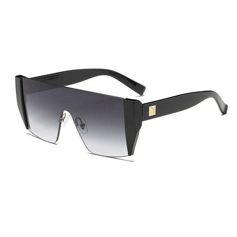 e67d1bff35 Brand 2018 Cool Futuristic One Piece Tom Sunglasses Men Oversized Square  Rimless Flat Top Sun Glasses Black Shades Lens Reading Glasses Prescription  ...