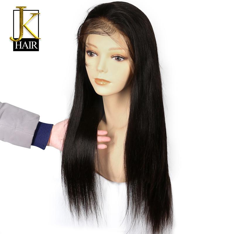 Lace Front Human Hair Wigs For Black Women Remy Brazilian Straight ... 95bd60a4fd