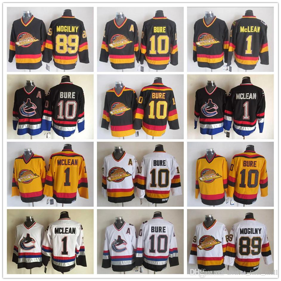 4d9b2c91726 ... white away jersey authentic fdccc 0a3dd free shipping 2018 stitched  vancouver canucks 1 kirk mclean jerseys 10 pavel bure 89 alexander mogilny  ...