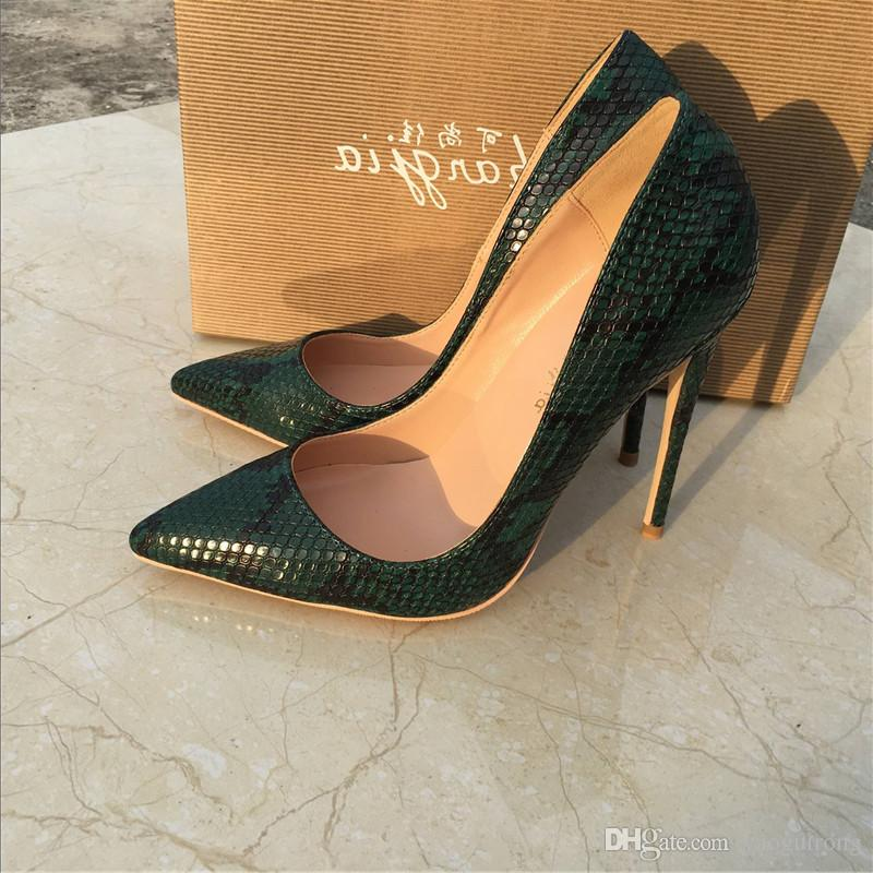 211b79714e New Green Snake Serpent With Fine Pointed High Heeled Shoes, Fashion Sexy,  Shallow Party Banquet Shoes, Custom 33 45 Yards Boat Shoes Shoes For Men  From ...