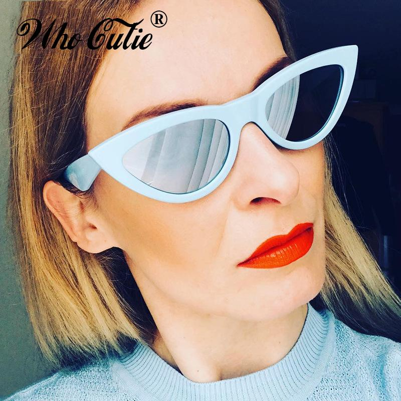 e732de704b WHO CUTIE 2018 Oversized Retro Cat Eye Sunglasses Women Brand Designer Vintage  Female Fashion Mirror Lens Sun Glasses Shades 643 Eyewear Designer  Sunglasses ...