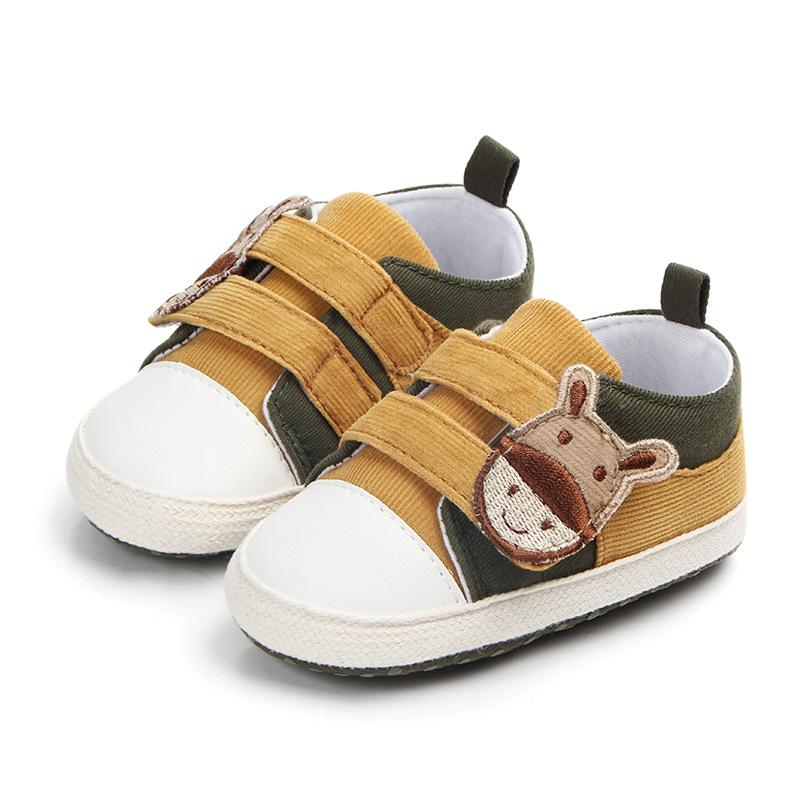 c51171e7f33fc7 2019 New Cartoon Corduroy Sports Sneakers Newborn Baby Boys Girls First  Walkers Shoes Infant Toddler Soft Sole Anti Slip Baby Shoes From  Crazy baby