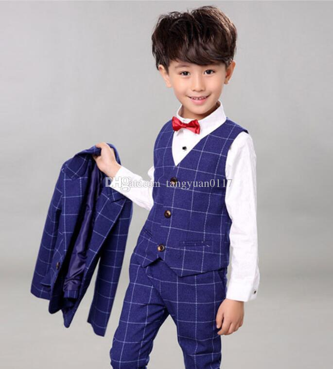 58f738a1d1e4 2019 2018 Fashion Kids Blazer Baby Boys Suit Jackets 2018 Spring Cotton  Coat Pants Boy Suits Formal For Wedding Chlidren Clothing From  Tangyuan0117
