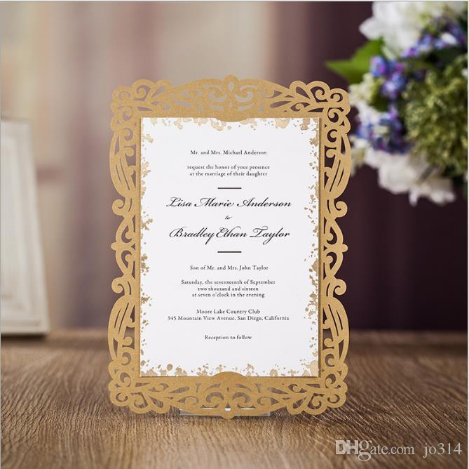 2018 New Wedding Card Invation Card Royal Ceremony Supplies