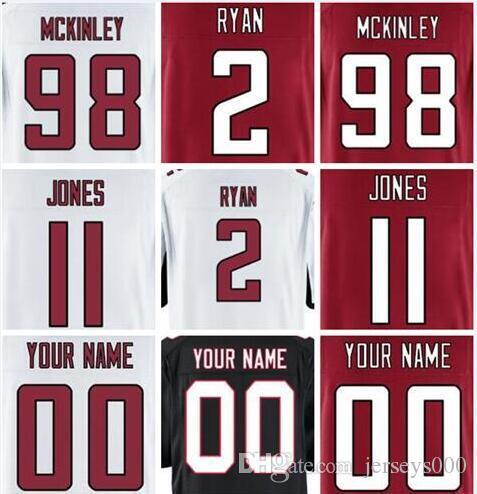 2019 Mens Jersey Julio Jones Matt Ryan Deion Sanders Custom Atlanta ... d25233150