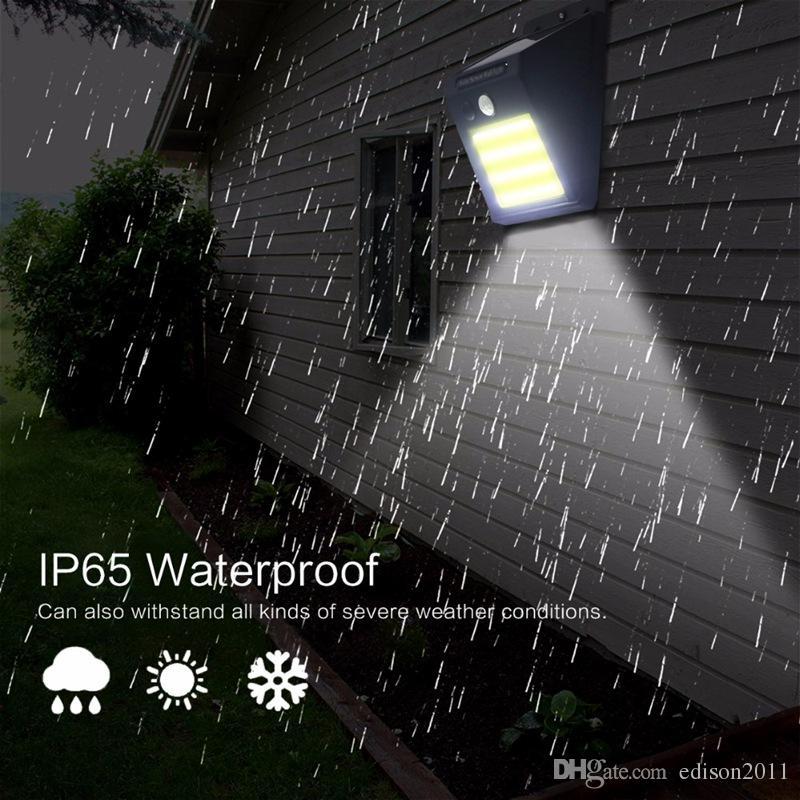 Edison2011 48 COB LEVOU Movido A Energia Solar PIR Sensor de Movimento da lâmpada de Parede do Corpo Humano de Luz Infravermelha Ao Ar Livre À Prova D 'Água Casa Luzes de Segurança Do Jardim