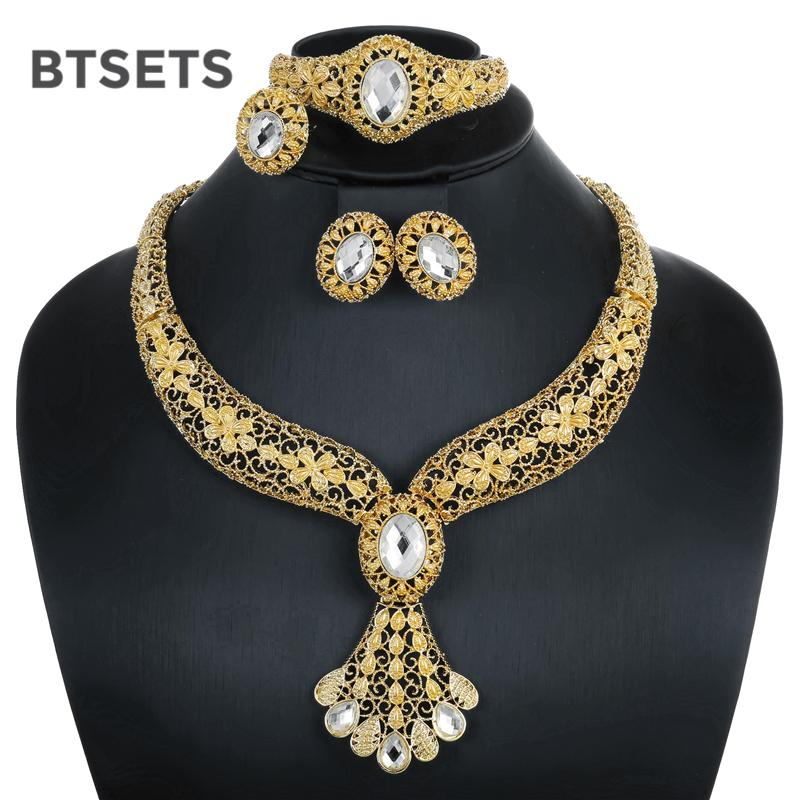 2019 BTSETS Costume Bridal Jewelry Sets Fashion Women Nigerian African  Beads Jewelry Set Plant Trendy Gold Color Indian Jewellery Set From Ifso fa6c4d8ae730