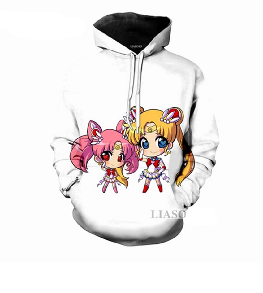 2831e6046 2018 Fashion Women/Men Animation Sailor Moon Cartoon 3D Print Casual ...