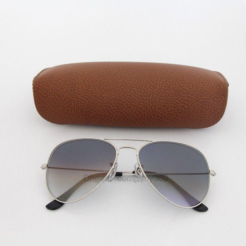 384b3024e Vassl Fashion Pilot Glass Lens Sunglasses Womens Mens Gradient Eyeglass  Silver Metal Frame Mix Orde 58MM 62MM Mirror With Box Glasses For Men Mens  ...