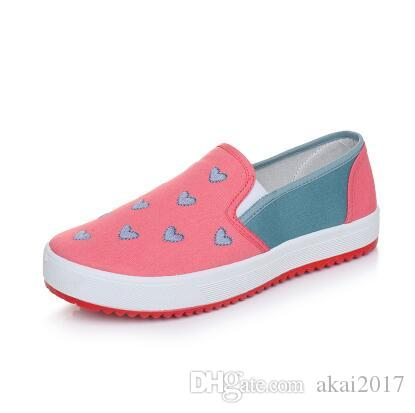 53ce01383adae 2018 Spring Autumn New Women'S Casual Breathable Stitching Printing Shoes  Women'S Shallow Low Cut Canvas Shoes Cloth Shoes Cute Shoes Mens Shoes  Online From ...