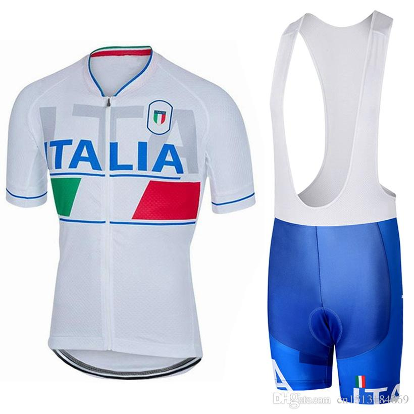 fd77a56b5 UCI 2018 Pro Team Italia Short Sleeve Cycling Jersey Kit Ropa Ciclismo  Breathable Bicycle Clothing MTB Bike Jersey Bib Shorts Set Cycling T Shirts  Biking ...
