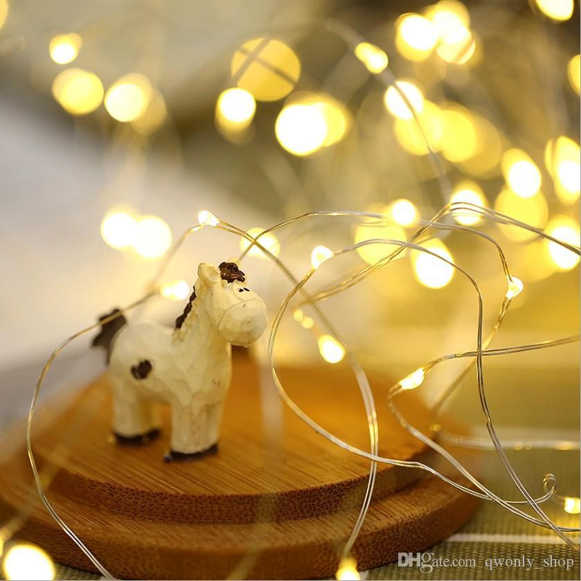 الصمام إناء سلسلة ضوء زر بطارية تعمل أضواء للماء جنية لحفل زفاف ديكورات المنزل DIY 9 ألوان