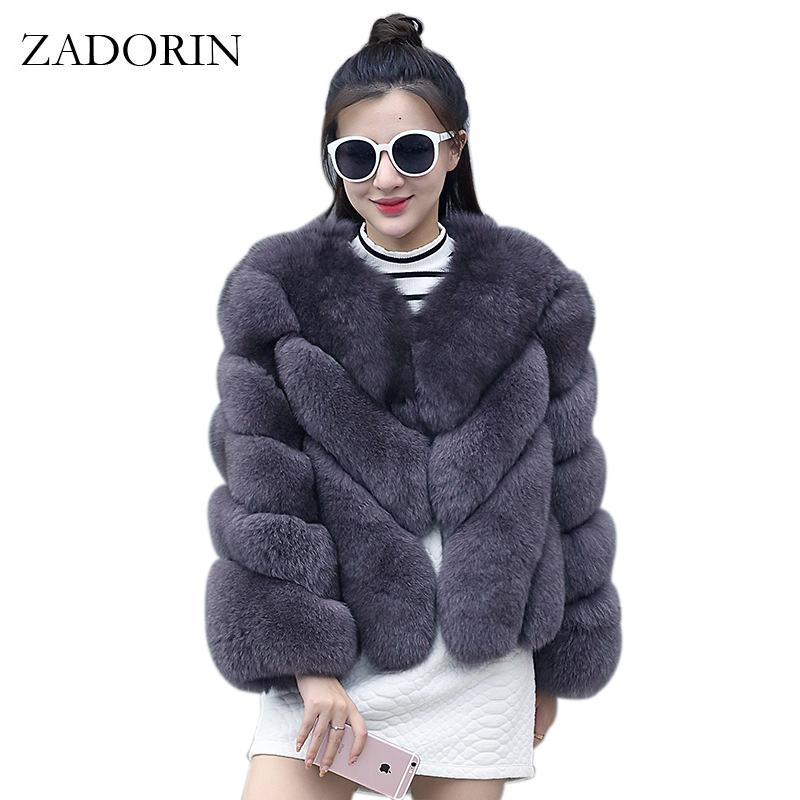 26879f86f4ca8 2019 ZADORIN 2018 NEW Streetwear Furry Faux Fur Coat Women Plus Size Long  Sleeve Winter Coats Ladies Jackets Fourrure Abrigo Mujer D18110805 From  Shen8403