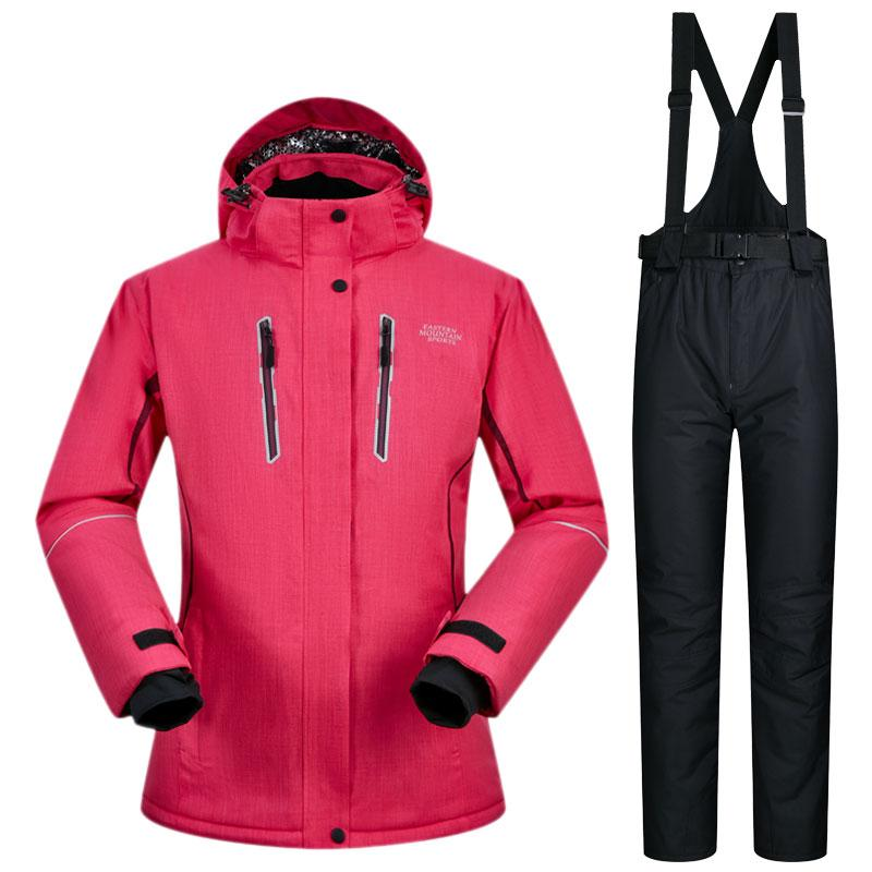 aeba49cf59 2019 High Quality Waterproof Ski Suit For Women Winter Sports Wear Clothing  Female Snowboard Jacket Skiing Snow Pants Skiwear From Dragonfruit