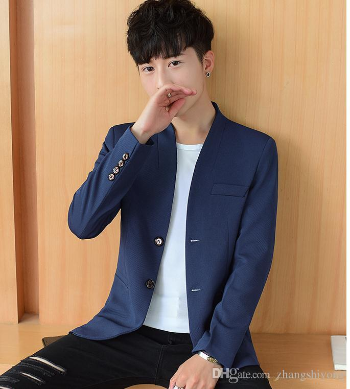 a83afa02f8da3 New style men s Western-style clothes Korean tide ardercultivate one s  moral character coat 2018 spring and summer