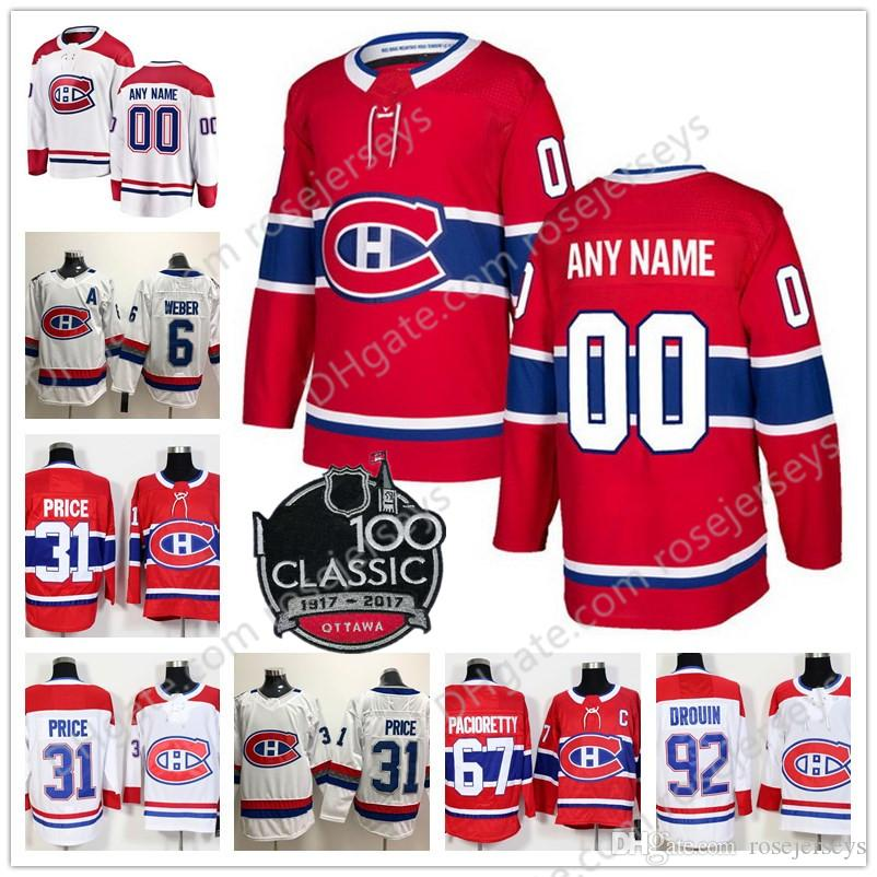 2c627f97ec3 ... promo code for 2019 customize montreal canadiens hockey jerseys 100th  classic stitched any number name 2018