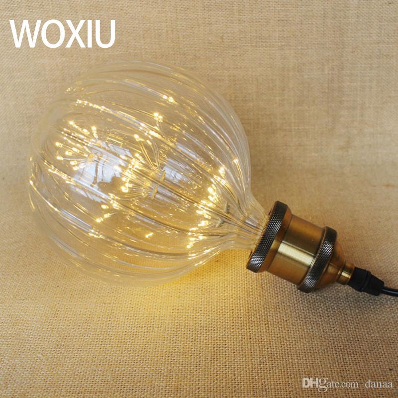 WOXIU Retro Creative bulb G95 light pumpkin lantern filament Bulbs edison Hobbies Watt 5w store Ceiling Hallway Porch Indoor Decor
