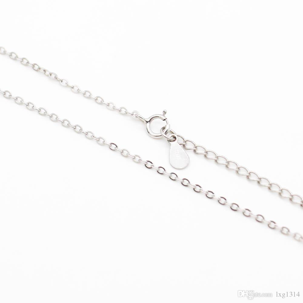 S925 sterling silver flat flower O word chain boutique ladies jewelry chain spot wholesale, fashion jewelry accessories