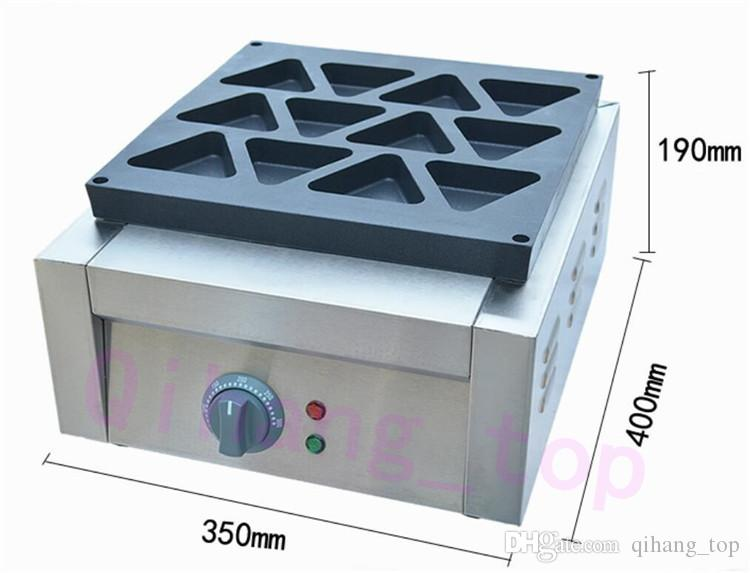 Qihang_top commerciale triangolo elettrico antiaderente obanyaki waffle maker ferro macchina triangolo waffle fare waffle