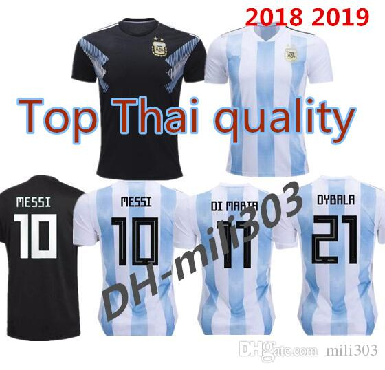 2019 Best Quality 2018 World Cup Argentina World Cup Soccer Jerseys 18 19  MESSI DI MARIA AGUERO Thai Quality Argentina Camisas Football Shirts From  Mili303 ae13d8d86