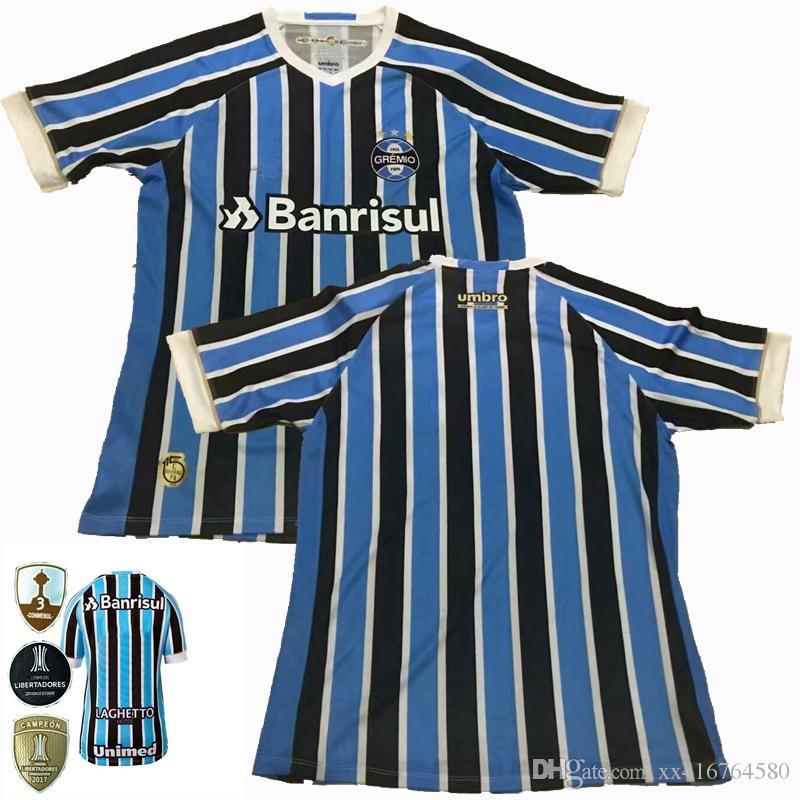 Compre 2018 2019 Thai Quality Grêmio Camisa De Futebol 18 19 Gremio MILLER  LUAN DOUGLAS DIEGO HAILON Camisas De Futebol S 2XL De Xx416764580 2164a98a02703