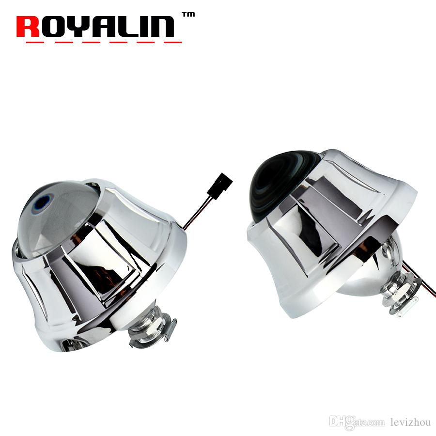 ROYALIN Metal Projector Lens H1 2.5 Bi-Xenon For Pegasus Shrouds for Ford C-max A3 Citroen Caddy Polo Touran H4 H7 Car Styling