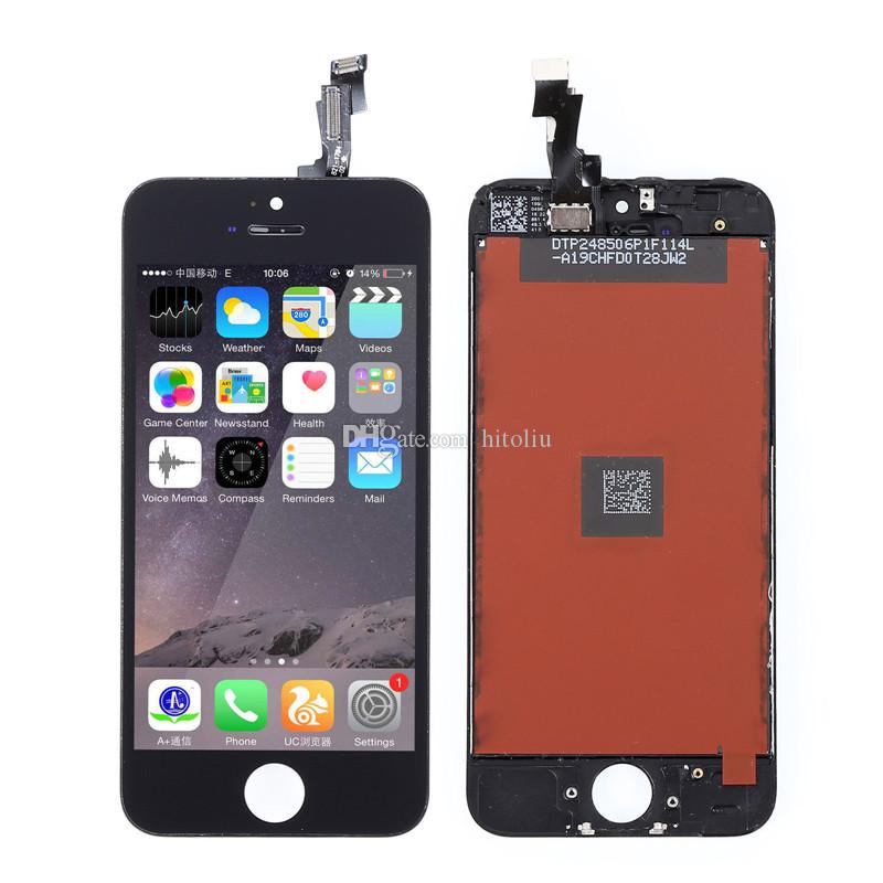 LCD For iPhone 5 5G 5S 5C with touch screen Full set Assembly White and black color Cell Phone Parts Cell Phone LCD
