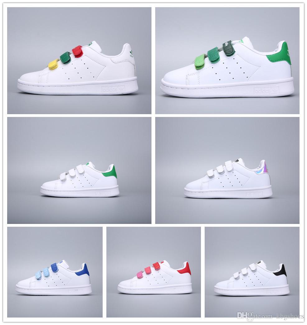 f221d03a6 Compre Adidas Stan Smith Marca Niños Superstar Zapatos Original Oro Blanco  Bebé Niños Superstars Sneakers Originales Super Star Niñas Niños Deportes  Casual ...