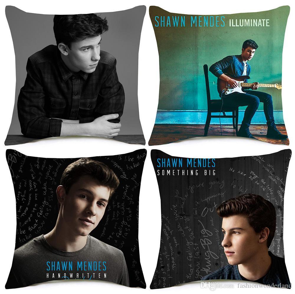 Shawn Mendes Kissenbezug 8 Stile Berühmte Sängerin Porträt Etwas Große Kissenbezüge Dicken Leinen Baumwolle Schlafzimmer Sofa Dekoration