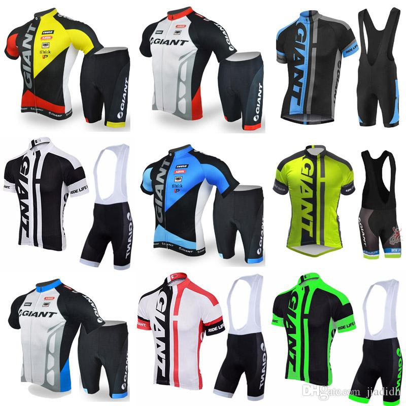 GIANT Team Cycling Short Sleeves Jersey Bib Shorts Sets Best Breathable Bicycle  Clothing Sports Suit Outdoor Riding Suit C2819 Team Cycling Jerseys Best ... be0aa26e0