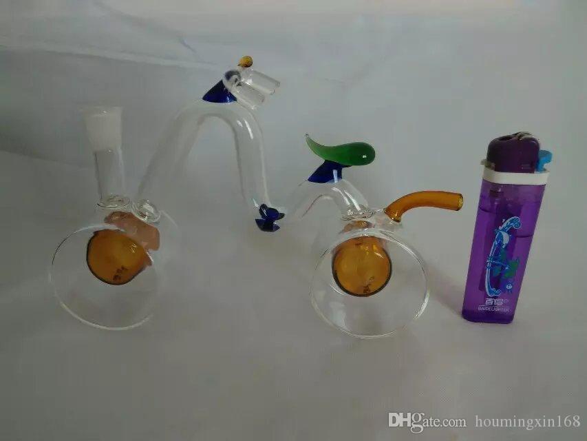 O cachimbo de água de bicicleta, bongos De Vidro Por Atacado Queimadores de Óleo Tubos De Água Tubos de Vidro Tubulação De Óleo Rigs Fumar, Frete Grátis