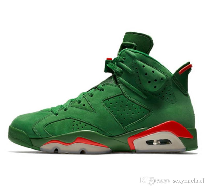 cce9f514dbf6 With Box Green Suede 6 Basketball Shoes New 2018 Mens Trainer High Top  Sneaker From Michael Sports Sneakers On Sale East Bay Shoes From  Sexymichael