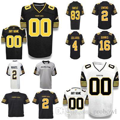 2019 2018 Custom Men Women Youth Canada Football Jersey New Hamilton Tiger  Cats Jerseys 2 Johnny Manziel White Black Embroidered Jersey From Probowl 26486a19e