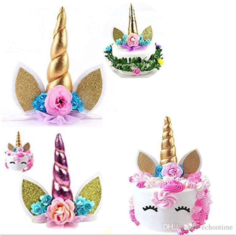 Unicorn Horns Cake Topper For Kids Cake Birthday Baby Shower Unicorn