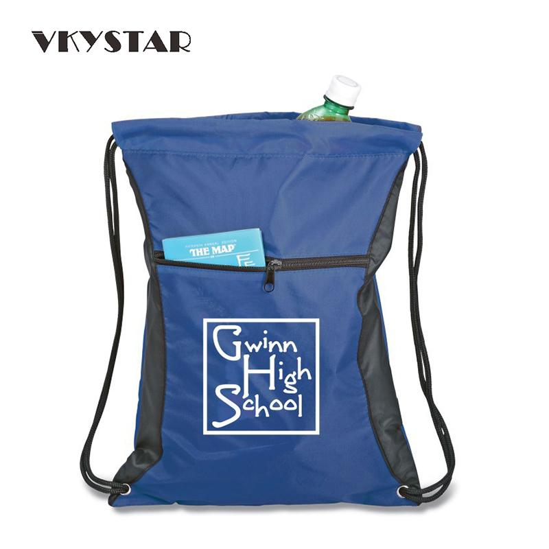 8009df510903 Royal Blue Drawstring Bag 210D Polyester Backpack Male Folding Shopping Bag  Men Sacola Plegable Customizable 217 UK 2019 From Teaberry