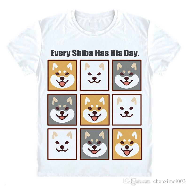 Außergewöhnlich Lovely Muco! Shiba Inu T Shirt Anime Japan Harajuku Style Cute &ZR_55