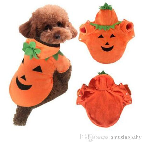 2018 2017 new warm wool pet clothing halloween dog clothes lovely pumpkin devil body suit xssml from amusingbaby 2011 dhgatecom