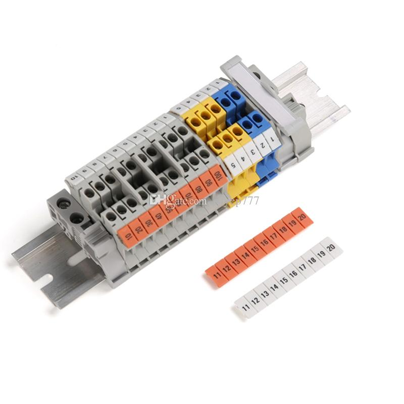 100 ADET ZB8 Sayılar Ray Monte Terminal Blokları İNGILTERE-6N için Şerit İşaretleyiciler