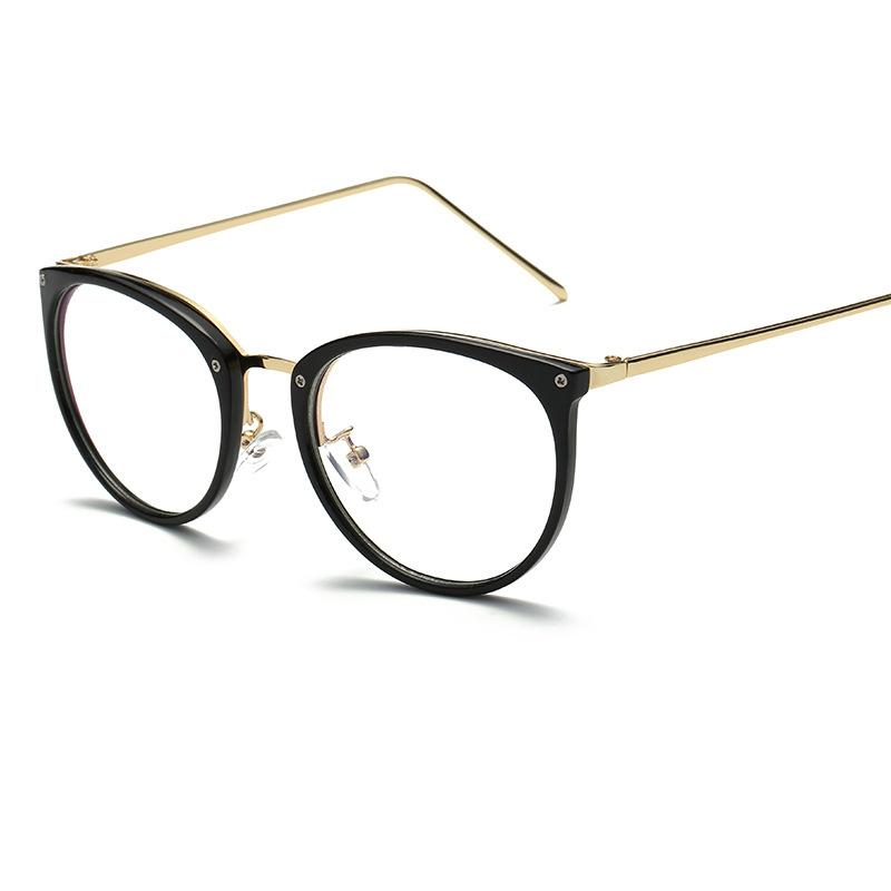 0346cbe8030095 Fashion New Metal Trend Glasses Frame Men And Women Beautiful Oval ...