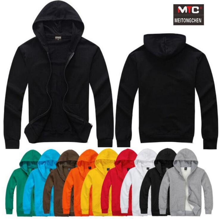 size 40 8a997 f8f53 Herren Kapuzen-Baumwoll-Strickjacke Sportswear Student Team einheitliche  einfarbig Langarm-Pullover Männer Jogging-Kleidung