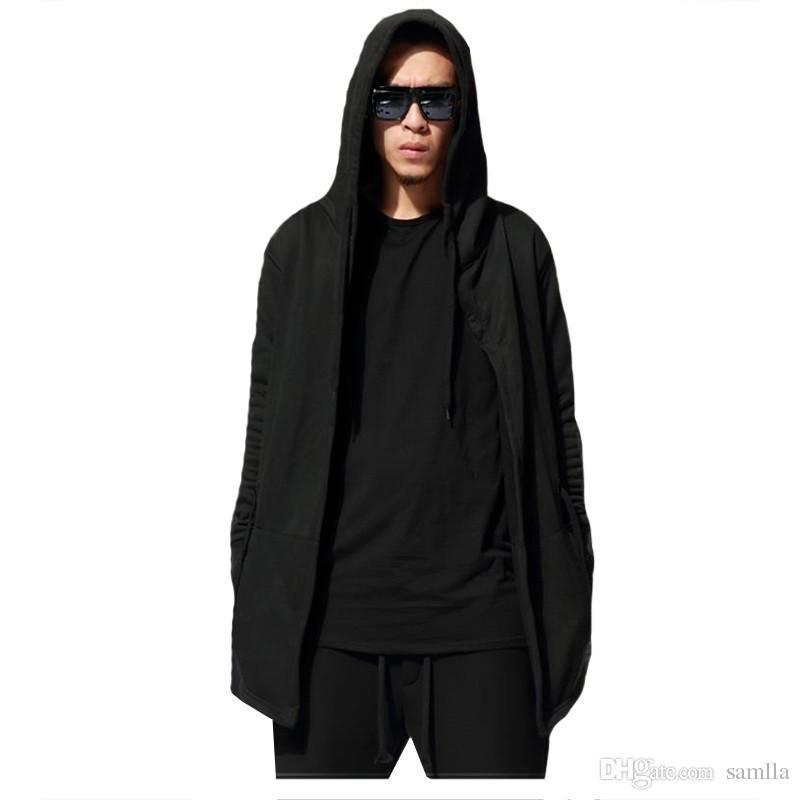 New Original design men clothing sweatshirt spring autumn Hip Hop swag hoodie man hood cardigan mantissas black cloak outerwear