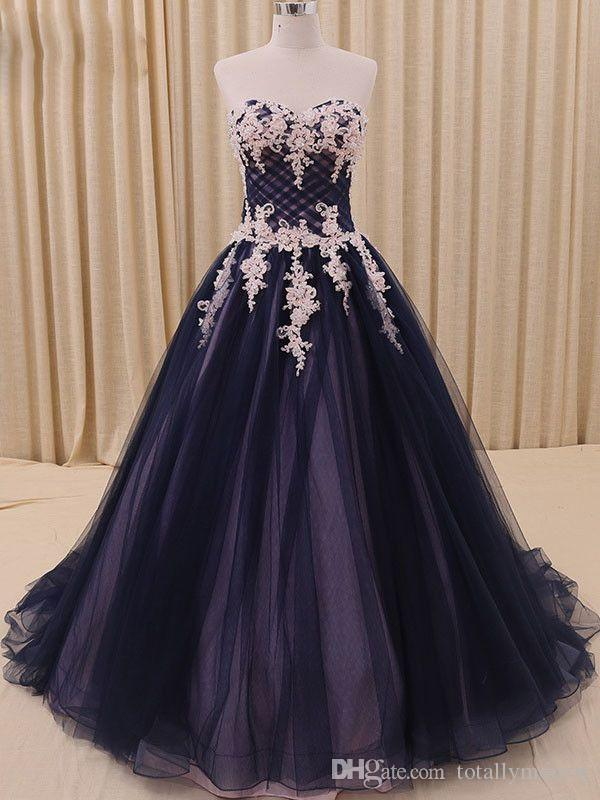 Discount Black Pink Gothic Ball Gown Wedding Dresses With Color ...