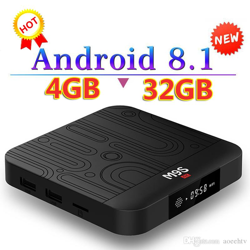 2018 New M9S J1 4GB 32GB Android 8 1 TV Box 2 4G WIFI Bluetooth IPTV Media  Player Better S8 MAX H96 X96 H96X MAX