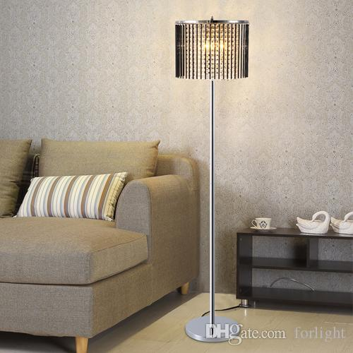 2019 Luxury Modern New Dimmable Led Floor Lamps Crystals For Living
