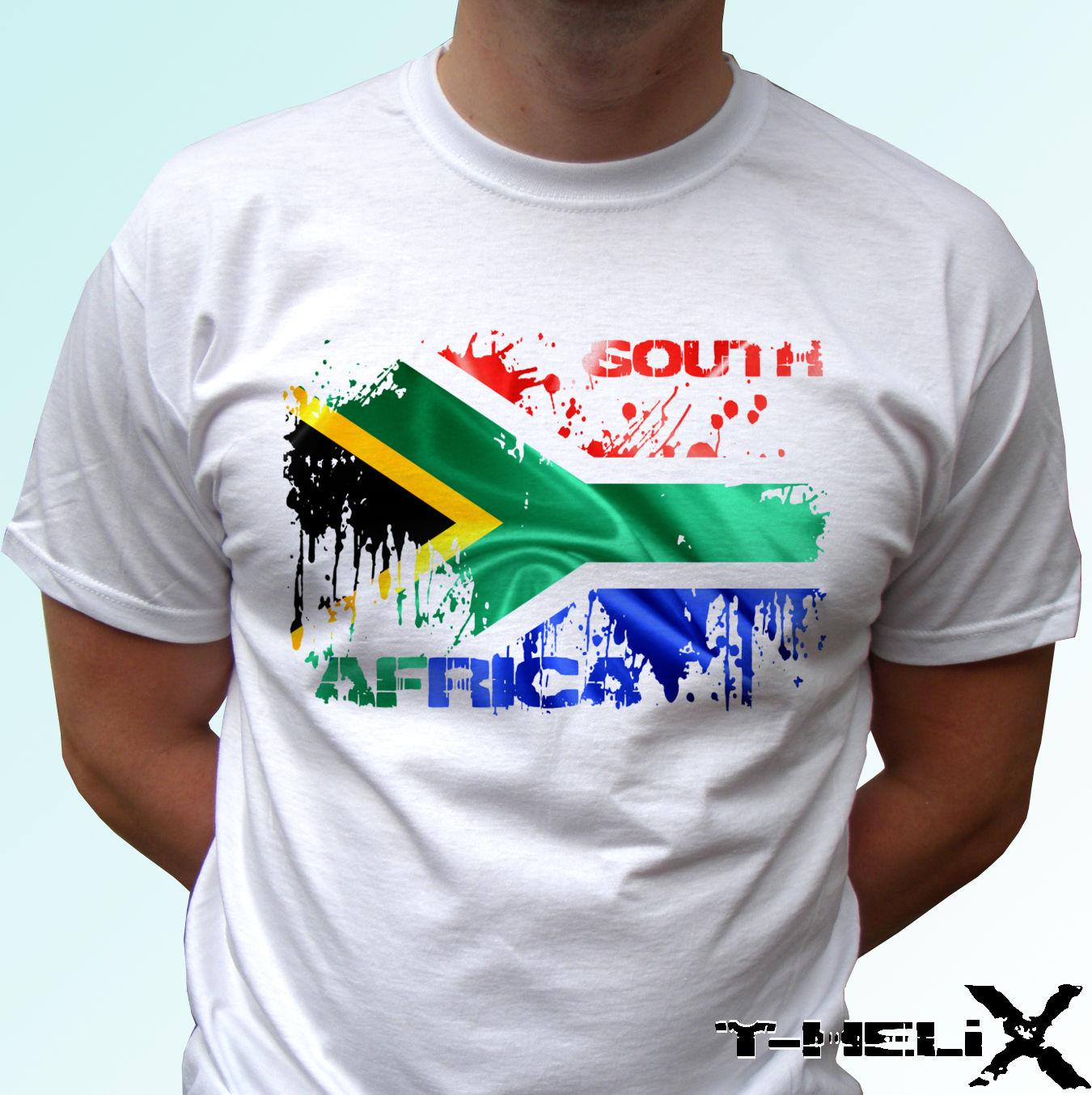 92a5f58a South Africa Flag White T Shirt Top Country Design Mens Womens Kids & Baby Funny  Tops Tee New Unisex Funny Tops Coolest Shirts Funny T Shirt Slogans From ...